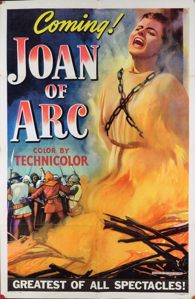 JOAN OF ARC (1948) 8063 Original RKO Advance One Sheet Poster (27x41).  Folded. Very Fine Condition.
