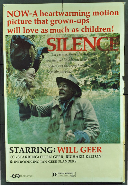 SILENCE (1973) 8079 Original Cinema Financial One Sheet Poster (27x41). Folded. Good Condition Only.
