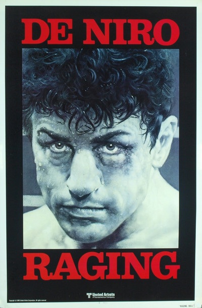 RAGING BULL (1980) 8223 Original United Artists Advance One Sheet Poster (27x41). Unfolded. Near Mint Condition.