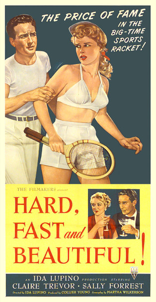 HARD, FAST AND BEAUTIFUL (1951) 8629 Original RKO Three Sheet Poster (41x81). Fine Plus.