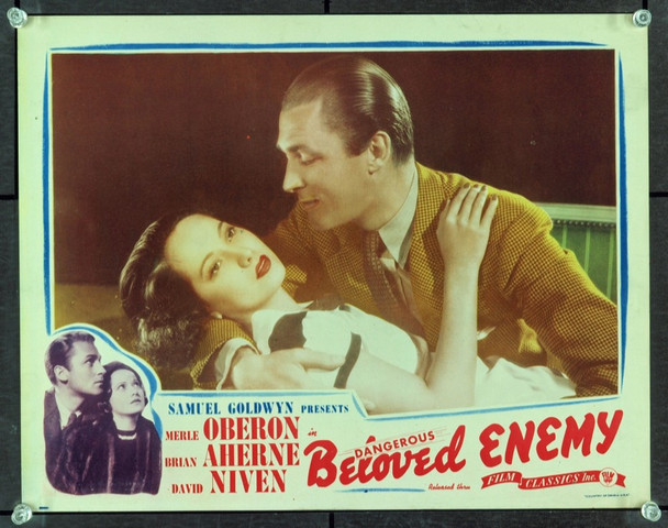 BELOVED ENEMY (1936) 8865 Original Film Classics 1944 Re-Release Scene Lobby Card (11x14).  Very Fine Condition.