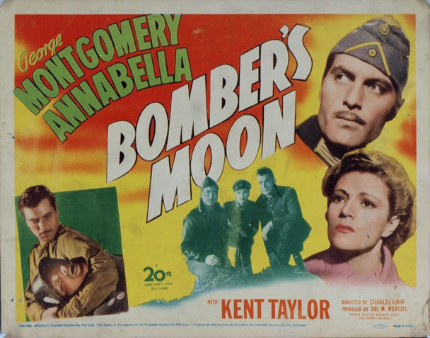 BOMBER'S MOON (1943) 8919 Original 20th Century-Fox Title Lobby Card (11x14).  Very good condition.