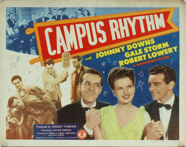 CAMPUS RHYTHM (1943) 8923 Original Monogram Pictures Title Lobby Card (11x14).  Very fine condition.