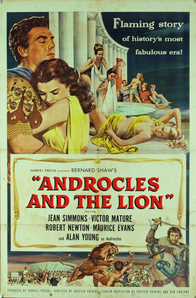 ANDROCLES AND THE LION (1952) 9177 Original RKO One Sheet Poster (27x41). Folded.  Fine Condition.