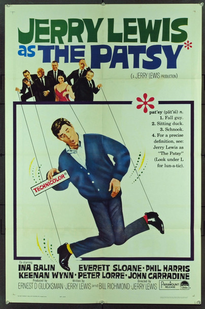 PATSY, THE (1964) 9192 Original Paramount Pictures One Sheet Poster (27x41). Folded. Fine Plus Condition.