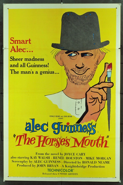 HORSE'S MOUTH, THE (1959) 9193 Original United Artists One Sheet Poster (27x41). Fine Plus Condition.