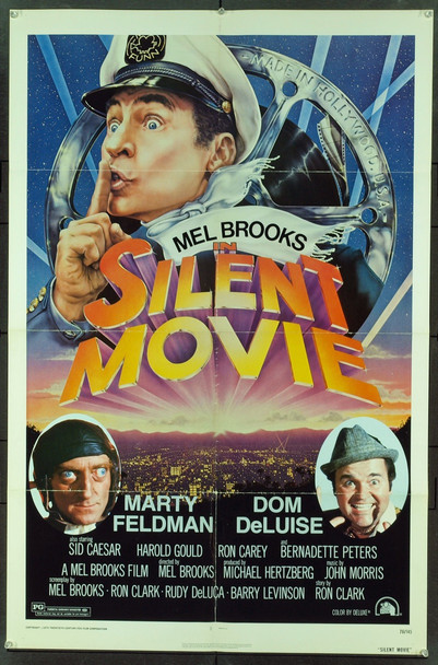 SILENT MOVIE (1976) 9306 Original 20th Century-Fox One Sheet Poster (27x41).  Folded.  Fine Plus Condition.