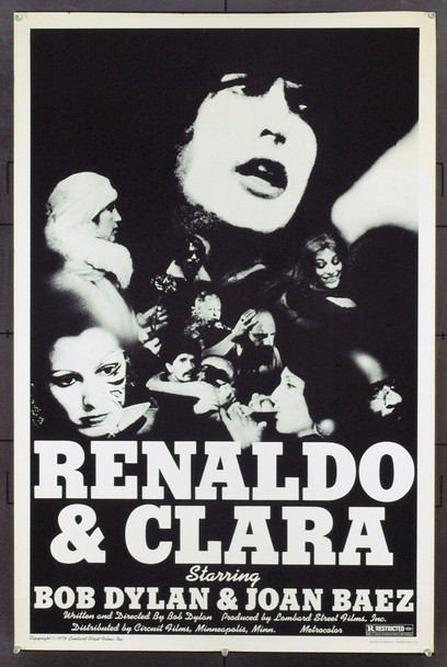 RENALDO AND CLARA (1978) 9392 Lombard Street Films One Sheet Poster (27x41).  Rolled.  Fine Plus to Very Fine.