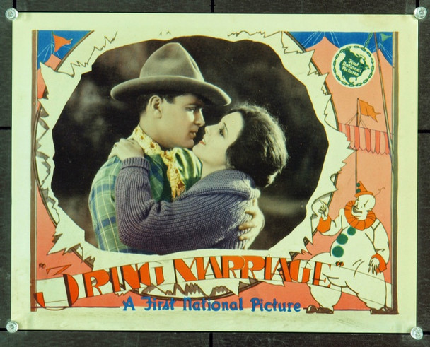THREE-RING MARRIAGE  (1928) 9403 Original First National Pictures Title Lobby Card (11x14).  Very Fine Condition.