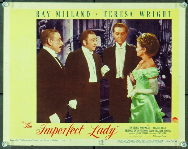 IMPERFECT LADY, THE (1947) 9406 Original Paramount Pictures Scene Lobby Card (11x14). Fine Plus Condition.
