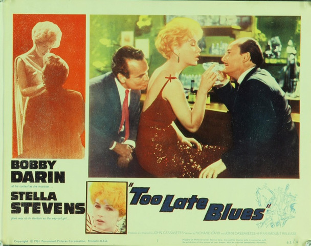 TOO LATE BLUES (1961) 9505 Original Paramount Pictures Scene Lobby Card (11x14).  Fine condition.