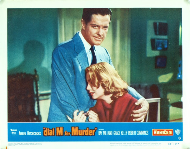 DIAL M FOR MURDER (1954) 9539 Original Warner Brothers Scene Lobby Card (11x14).  Very Fine To Near Mint Condition.