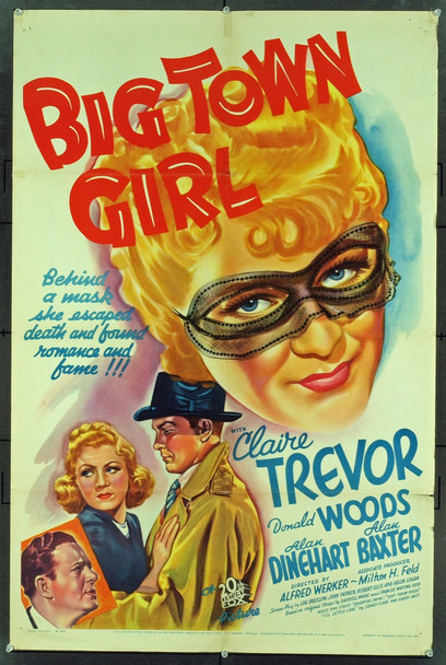 BIG TOWN GIRL (1937) 9573 Original 20th Century Fox One Sheet Poster (27x41).  Folded.  Fine Plus Condition.