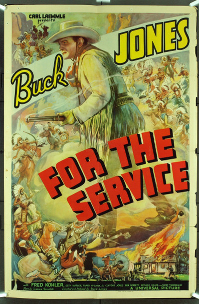 FOR THE SERVICE (1936) 9646 Original Universal Pictures One Sheet Poster (27x41). Folded. Fine Condition.
