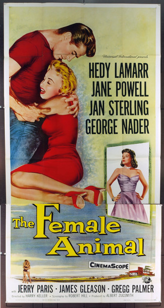 FEMALE ANIMAL, THE (1958) 9744 Original Universal Pictures Three Sheet Poster (41x81). Folded. Very Fine.