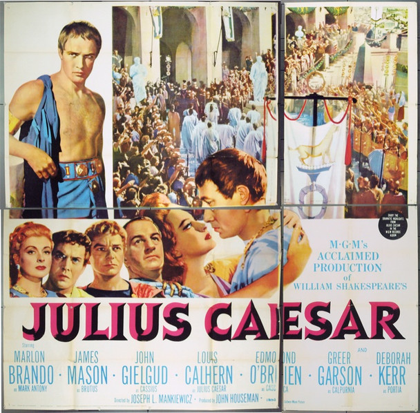 JULIUS CAESAR (1953) 9873 Original MGM Six Sheet Poster (81x81). Fine condition.