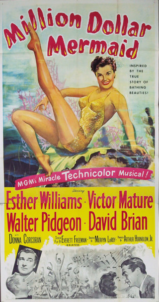 MILLION DOLLAR MERMAID (1952) 10150 Original MGM Three Sheet Poster (41x81). Very Fine Condition.