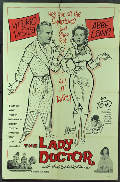 LADY DOCTOR, THE (1957) 10662 Original Governor Films One Sheet Poster (27x41). Folded. Very Good Condition.