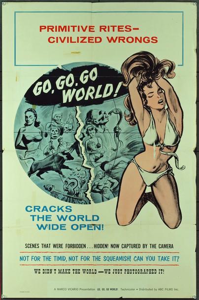 MONDO INFERNO (1964) 10664 Original ABC Films One Sheet Poster (27x41). Folded. Very Good Condition.