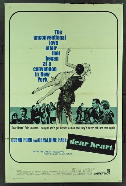 DEAR HEART (1965) 11047 Original Warner Brothers One Sheet Poster (27x41). Folded. Fine Condition.