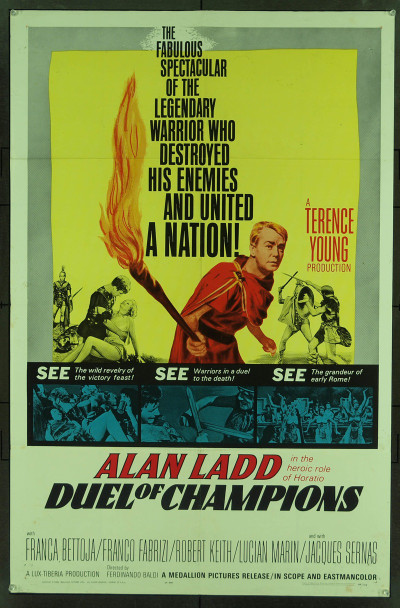 DUEL OF CHAMPIONS (1964) 11051 Original Medallion Pictures One Sheet Poster (27x41).  Fine Plus Condition.