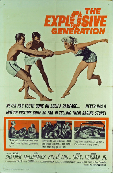 EXPLOSIVE GENERATION, THE (1961) 11123 Original United Artists One Sheet Poster (27x41).  Folded. Fine plus condition.