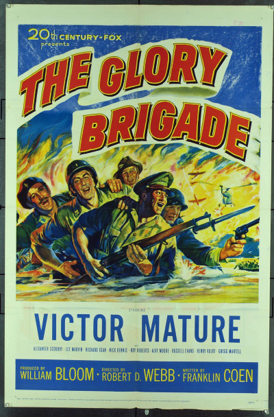 GLORY BRIGADE, THE (1953) 11283 Original 20th Century-Fox One Sheet Poster (27x41). Folded. Very fine condition.