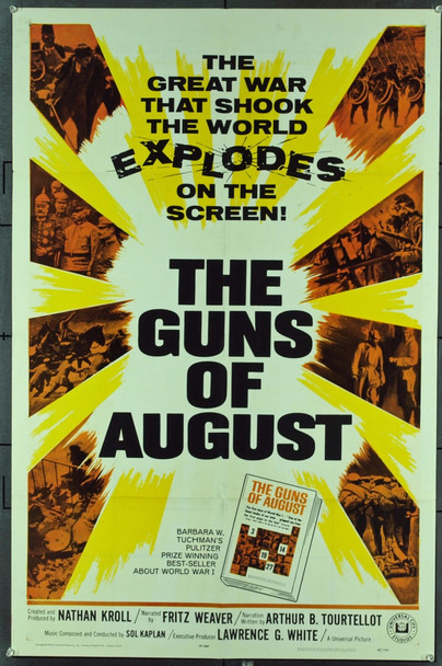 GUNS OF AUGUST, THE (1964) 11292 Original Universal Pictures One Sheet Poster (27x41). Folded.  Very Fine Condition.