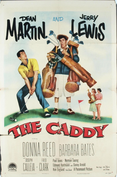 CADDY, THE (1953) 11453 Original Paramount Pictures One Sheet Poster (27x41).  Linen-Backed.  Martin and Lewis.  Fine plus condition.