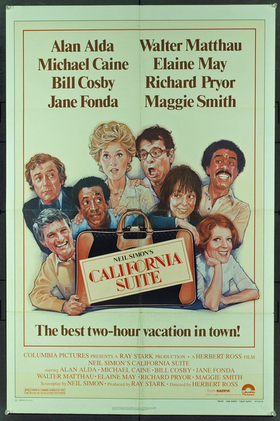 CALIFORNIA SUITE (1978) 11661 Original Columbia Pictures Style B One Sheet Poster (27x41).  Drew Struzan Artwork.  Folded.  Fine Condition.