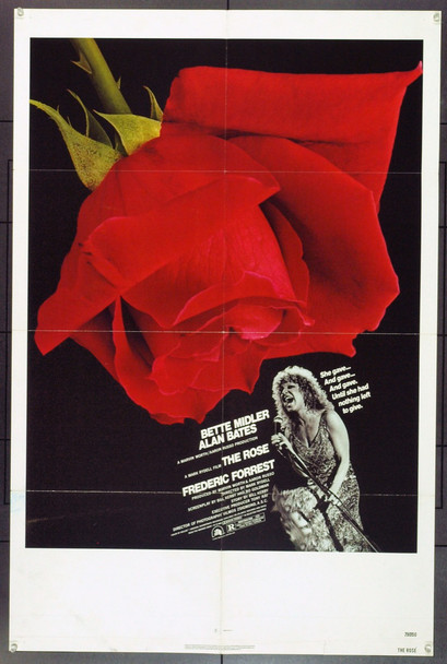 ROSE, THE (1979) 11937 U.S. One Sheet poster. 27x41. Folded.
