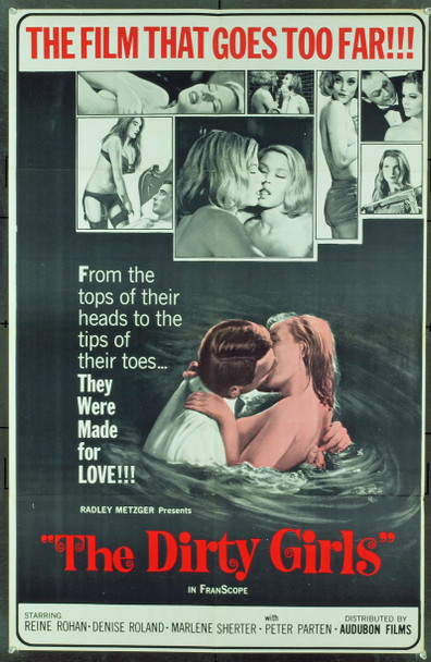 DIRTY GIRLS, THE (1964) 12027 Original Audubon Films One Sheet Poster (27x41). Folded. Very fine condition.