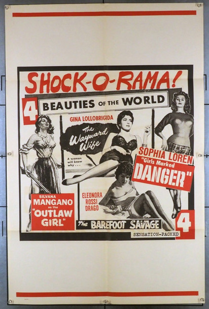 SHOCK-O-RAMA (1955) 12084 Original One Sheet Poster (27x41). Folded. Very fine condition.
