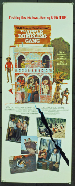 APPLE DUMPLING GANG, THE (1975) 12278 Original Walt Disney Productions Insert Poster (14x36). Rolled. Very fine condition.
