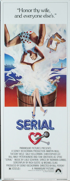 SERIAL (1980) 12345 Original Paramount Pictures Insert Poster (14x36). Very Fine Condition.