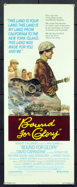 BOUND FOR GLORY (1976) 12358 Original United Artists Insert Poster. Rolled. Very Fine Plus
