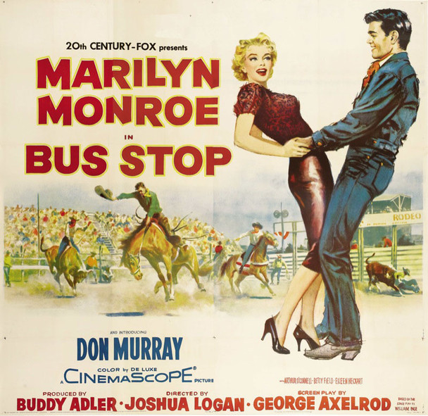 BUS STOP (1956) 12753 ORIGINAL 20th Century-Fox Six Sheet Poster (81x81).  Linen-backed.  Very Fine.
