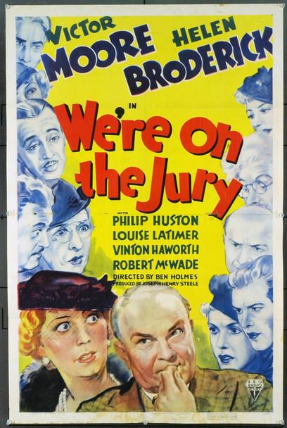 WE'RE ON THE JURY (1937) 12759 Original RKO One Sheet Poster (27x41).  Folded.  Fine.