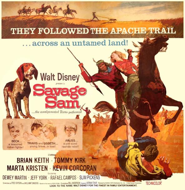 SAVAGE SAM (1963) 12929 Original Walt Disney Productions Six Sheet Poster (81x81). Good Condition.