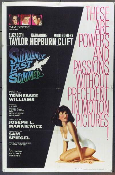 SUDDENLY, LAST SUMMER (1960) 13830 SUDDENLY, LAST SUMMER Original Columbia Pictures One Sheet Poster (27x41). Folded. Very Fine.