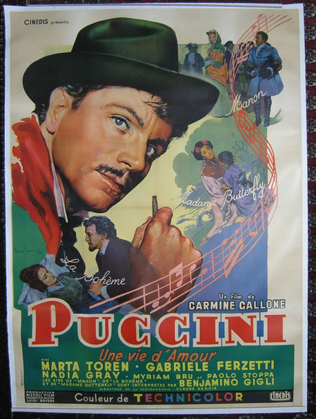 PUCCINI (1953) 15048 Original French Poster (47x63).  Linen-Backed.  Very Fine.