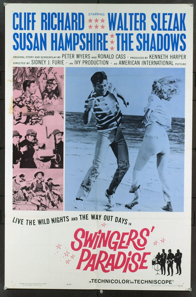 SWINGERS' PARADISE (1965) 15091 Original American International Pictures One Sheet Poster (27x41).  Folded.  Very Fine Condition.