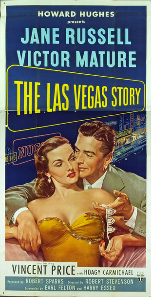 LAS VEGAS STORY, THE (1952) 15417 Original RKO Three Sheet Poster (41x81). Folded. Very fine plus condition.