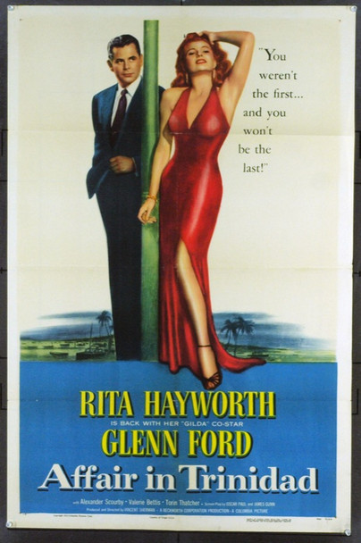 AFFAIR IN TRINIDAD (1952) 15772 Original Columbia Pictures Style B One Sheet (27x41).  Folded.  Fine Plus.