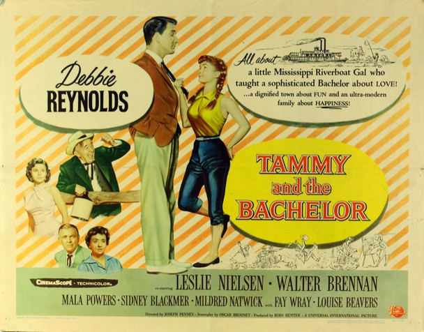 TAMMY AND THE BACHELOR (1957) 16414 Original Universal Pictures Half Sheet Poster (22x28).  Folded.  Fine Plus Condition.