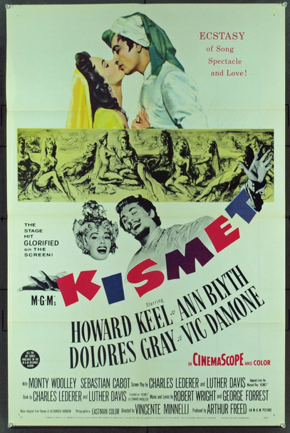 KISMET (1955) 16456 Original MGM One Sheet Poster (27x41).  Folded.  Very fine condition.