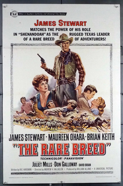 RARE BREED, THE (1966) 16556 Original Universal Pictures One Sheet Poster (27x41).  Fine Plus Condition.