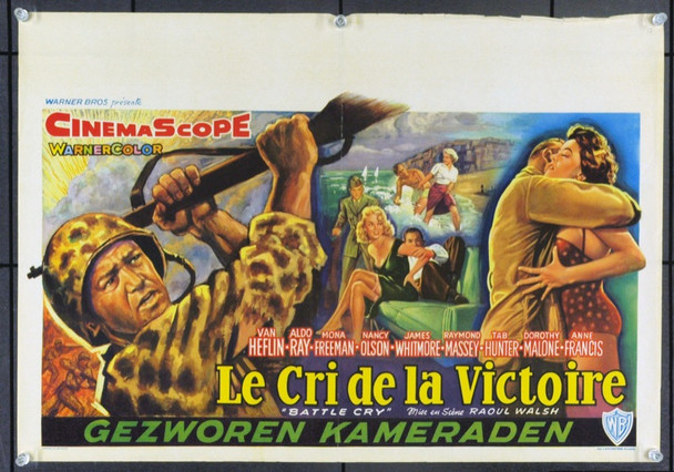 BATTLE CRY (1955) 17050 Original Belgian Poster (14x22). Fine Plus.