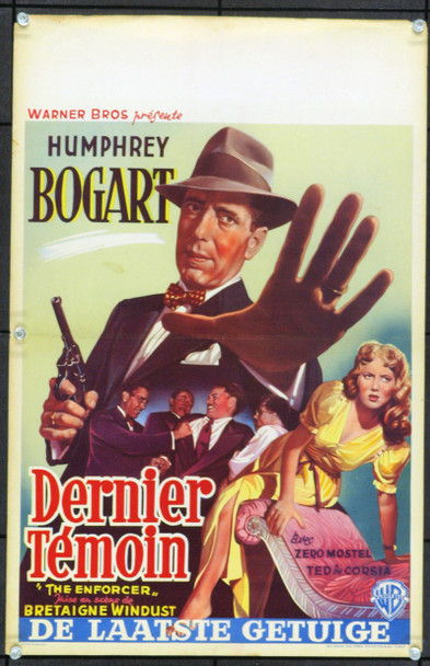 ENFORCER, THE (1951) 17062 Original Belgian Poster (13x21). Unfolded. Fine Plus.