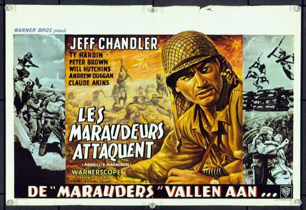 MERRILL'S MARAUDERS (1961) 17076 Original Belgian Poster (13x21). Fine Plus.
